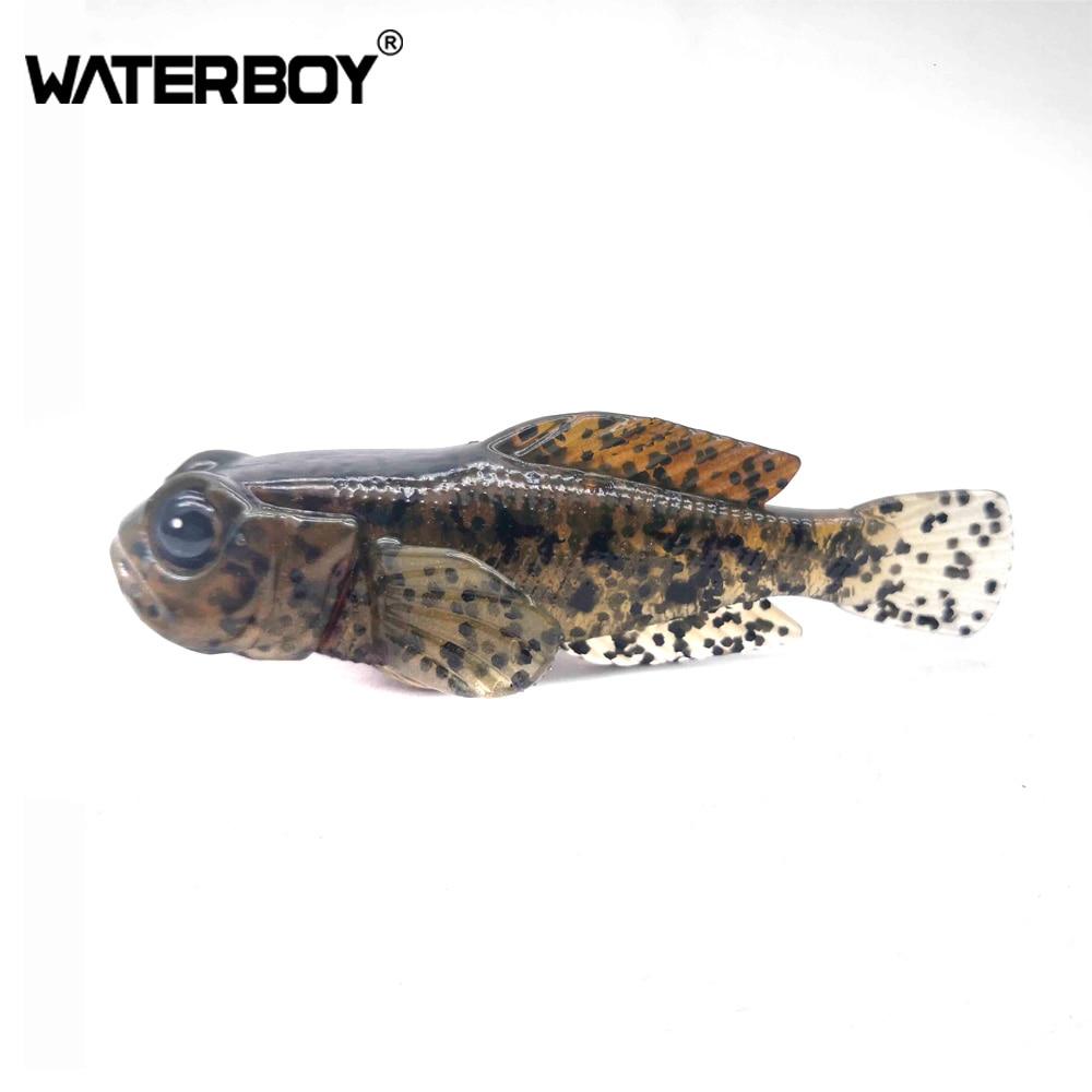 5pcs/pack 75mm 9.3g Goby Soft Swimbait 0.33oz 3inch Fish Baits Finest Detailed Softbait Fishing Lure