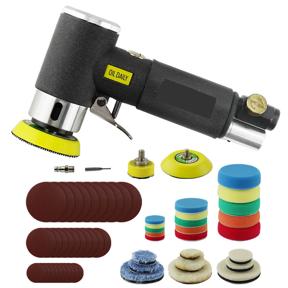 1   2   3   Mini Air Sander Dual Action Random Air Orbital Sander Polisher Grinder Pneumatic Sander Sanding Tools Air Polishing