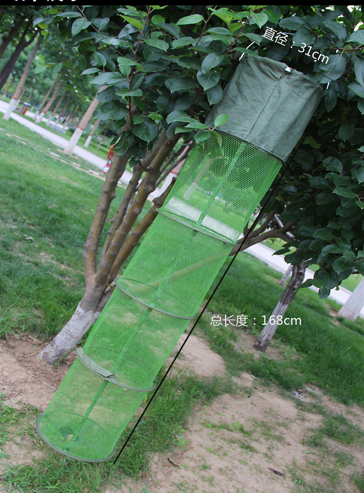 Beicang Fish Net Gelatinization Anti Hanging String Bag Double Coils Fish Basket Athletic Fish Stainless Steel Scale Fishers
