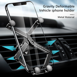 Image 4 - Yerçekimi braketi deforme araba telefon tutucu evrensel araba yerçekimi tutucu cep telefon standı iPhone Xr Xs Max Xiaomi Huawei
