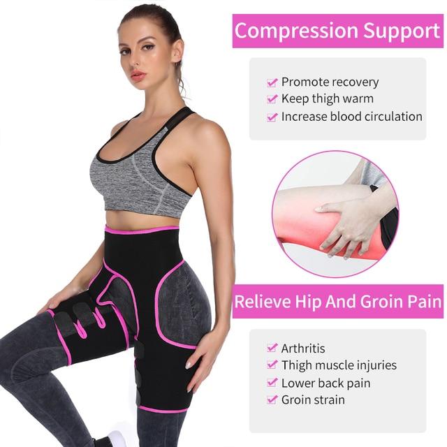 Women Neoprene Waist Trainer Sweat Shapewear Slim Belt Thigh Trimmer Leg Shapers Slender Toned Muscles Band Thigh Slimmer Wrap 2