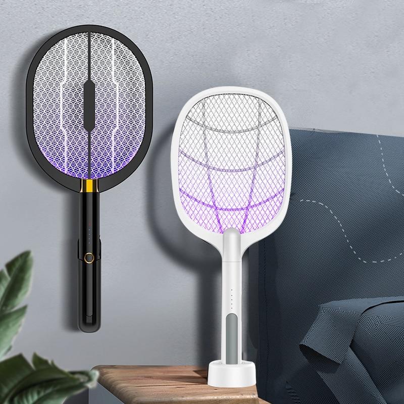 3 в 1 светодиодный инсектицидная лампа 3000V Электрический Жук ловушка для насекомых Zapper убийца USB Перезаряжаемые мухобойка ловушки против ком...
