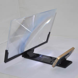Hd-Stand Magnifying Screen-Amplifier Glass Video Folding Mobile-Phone 3D 14inch for Eyes-Protection-Holder