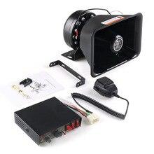 200W 8 Sound Laut Auto Warnung Alarm Polizei Sirene Horn Lautsprecher PA MIC System