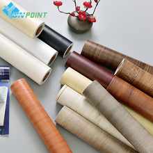 Wood Grain Black DIY Decorative Film Self Adhesive Wall Paper Furniture Renovation Stickers Kitchen Cabinet Waterproof Wallpaper