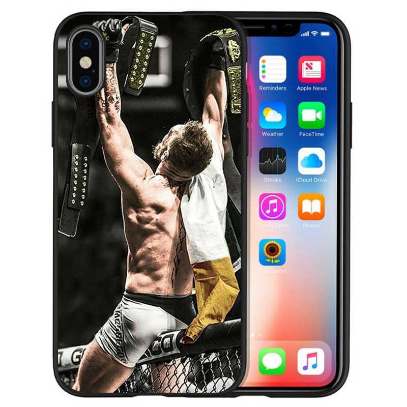 UFC קונור מקגרגור khabib nurmagomedov שחור TPU רך סיליקון טלפון מקרה עבור iPhone 11 פרו מקסימום X XS מקסימום 5 6 7 8 בתוספת