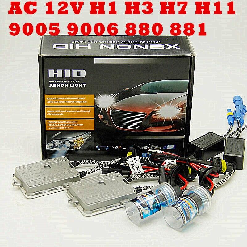 AC 55w 12v H4 Bi Xenon Hid Kit H4-3 Bi Xenon H4 Bi Xenon H4 Hi/lo Bixenon H4 Kit Single Beam H1 H3 H7 9005 9006 H11 880 881  KIT
