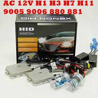 AC 55w 12v h4 bi xenon hid kit H4-3 Bi xenon H4 Bi xenon H4 Hi/lo bixenon h4 kit singolo fascio H1 H3 H7 9005 9006 H11 880 881 KIT