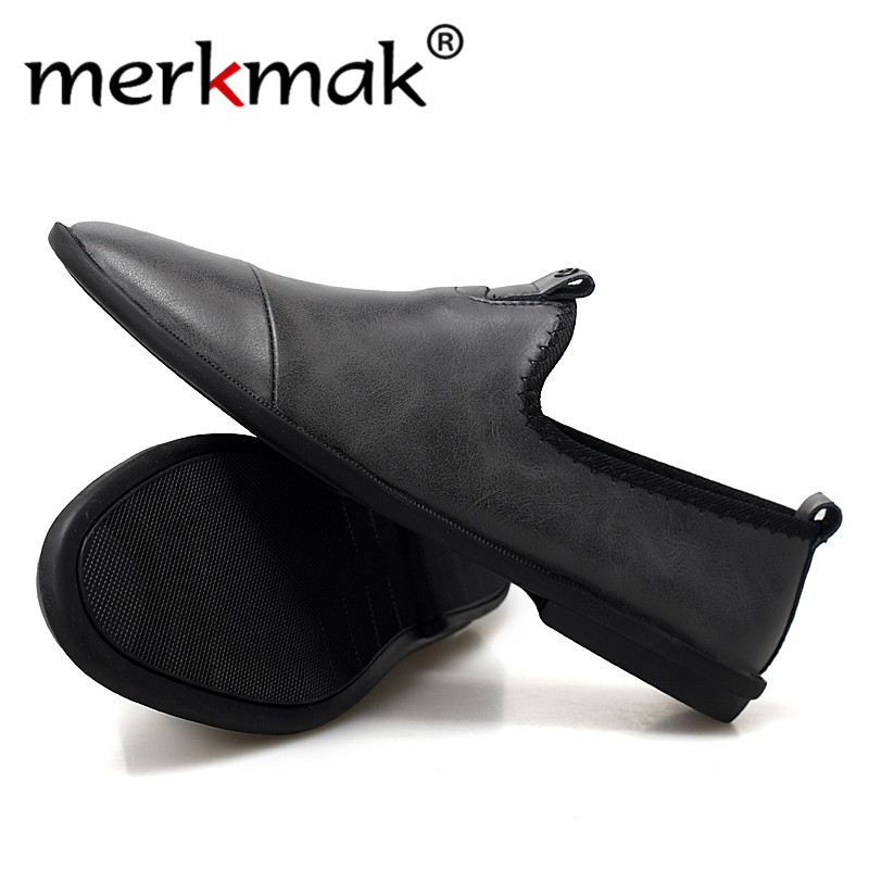 Merkmak 2020 New Spring Autumn Men Leather Casual Shoes Comfortable Genuine Leather Men Driving Shoes Big Size 44 Male Loafers