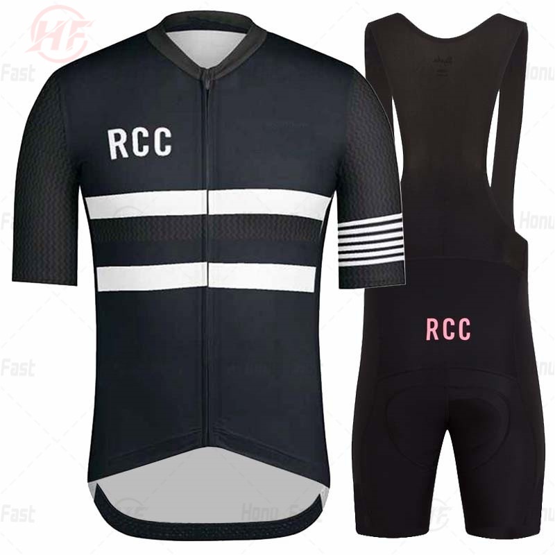 Road Bike Cycling Clothes Go Pro Men Short Sleeve Jersey Set RCC HF Mtb Pro Team Uniform 2020 Summer Ropa Ciclismo