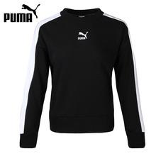 Oryginalny nowy nabytek PUMA Classics T7 Crew regularny krój damski sweter koszulki odzież sportowa tanie tanio CN (pochodzenie) WOMEN Dobrze pasuje do rozmiaru wybierz swój normalny rozmiar oddychająca