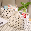 Collapsible Small Canvas Fabric Storage Basket with Handles,  Cube, Foldable Shelf Basket,  Desk Organizer for Nursery, Home