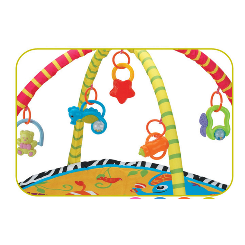 85*85*56cm Baby Play Mat Kids Rug Educational Puzzle Carpet With Piano Keyboard & Cute Animal Baby Gym Crawling Activity Mat J75