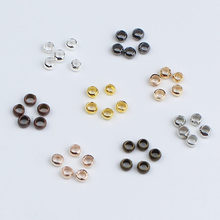 500pcs/lot Dia 1.5mm 2mm 2.5mm 3mm 4mm Copper Round Ball Crimp End Beads Stopper Spacer Beads for DIY Jewelry Making Supplies