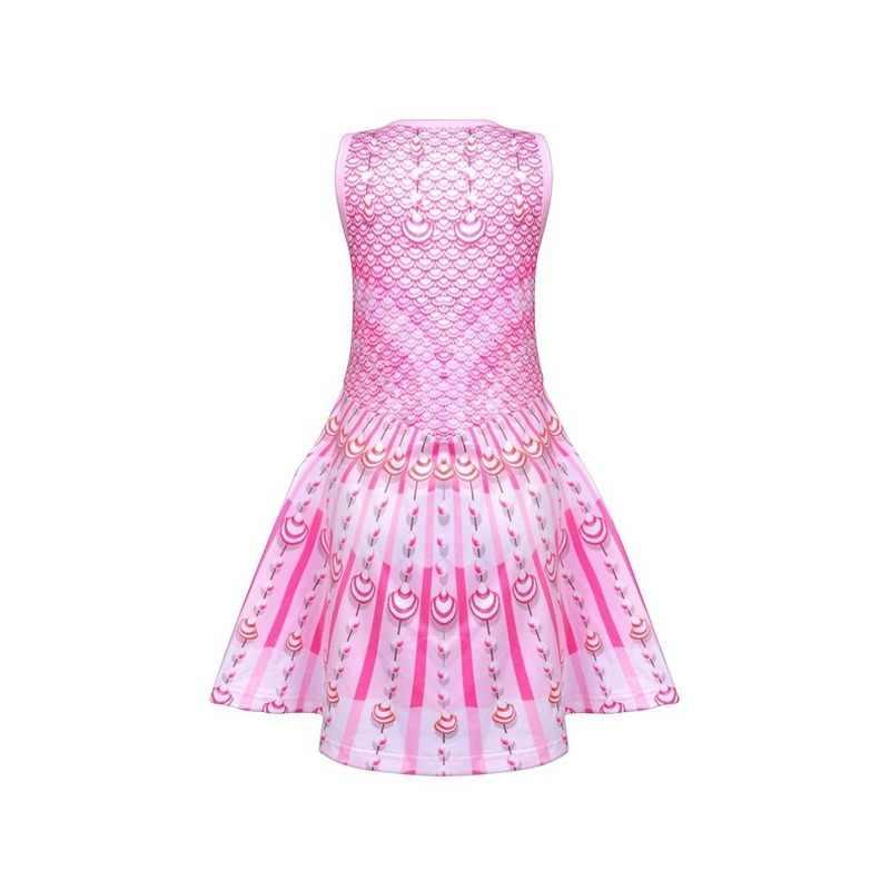 2020 Tahun Baru Lucu Ikan Skala Putri Duyung Putri In Gadis Cetak Hadiah Dress Busur Gadis Pakaian Cosplay Gaun 3- 10 Tahun