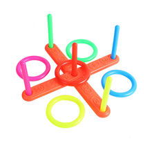 Hoop Ring Toss Plastic Ring Toss Quoits Garden Game Pool Toy Outdoor Fun Set Children Interactive Educational Toys At Party