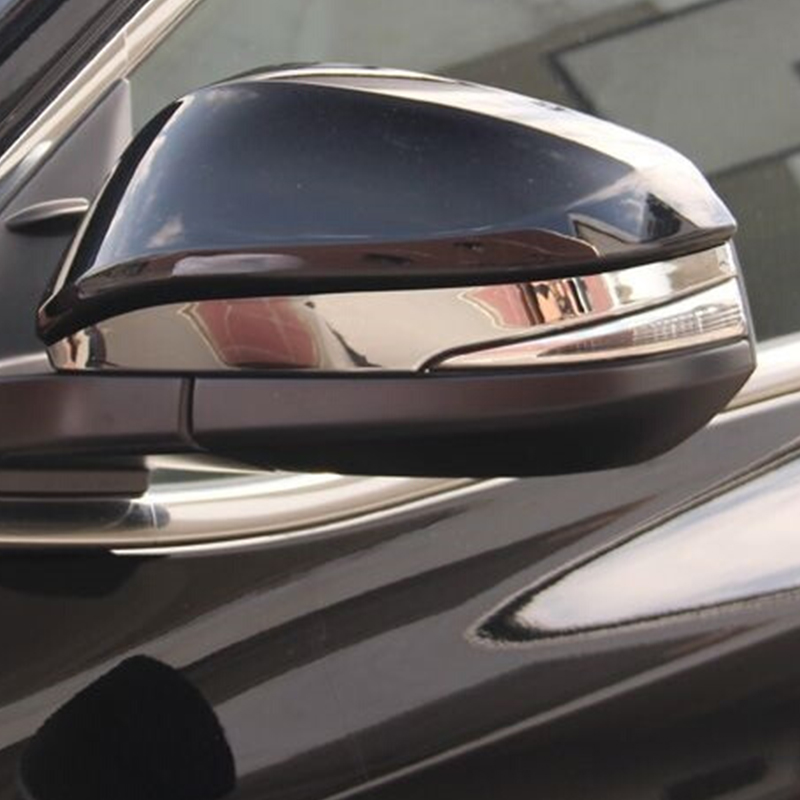 ABS Chrome Side Rearview mirror decoration strip Cover Trim For <font><b>Toyota</b></font> <font><b>4Runner</b></font> 2014 2015 2016 <font><b>2017</b></font> Accessories Car styling 2pcs image