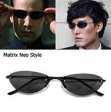 JackJad Mode Kühlen Die Matrix Neo Stil Polarisierte Nieten Sonnenbrille Männer Dünne Randlose Marke Design Sonnenbrille Oculos De Sol