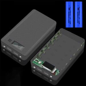 Image 2 - (ไม่มีแบตเตอรี่) 6x18650 DIYแบตเตอรี่แบบพกพาเปลือกแบตเตอรี่กล่องDIY KIT Digital LCD Display Powerbank 18650 กรณีProtector