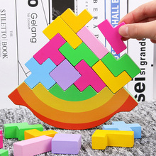 Baby Toy Wooden Block balance Tetris chopping Blocks table Game Brain Development baby Educational toys gifts for children