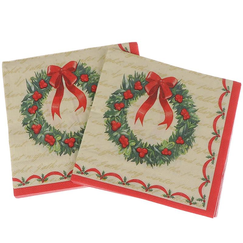20PCS/set Napkins Serviettes Hand Paper for Christmas Baby Shower Birthday Decor Disposable Garland Printed Graphic Tissues Paper Napkins & Serviettes    - AliExpress