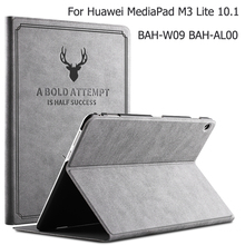 Case for Huawei MediaPad M3 Lite 10 BAH-L09/W09/AL00 Silm Flip Stand PU Leather Case Cover for Huawei M3 Lite 10.1 Tablet Funda for huawei mediapad m3 lite 10 bah w09 bah al00 10 1 inch tablet case litchi pu leather cover slim protective shell