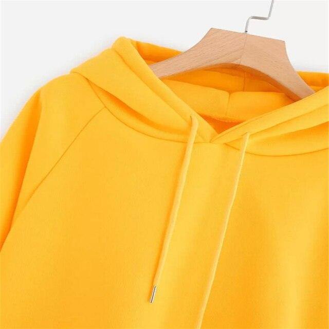 Womens hoodies Long Sleeve Hoodie Sweatshirt Hooded Pullover With Pocket  4