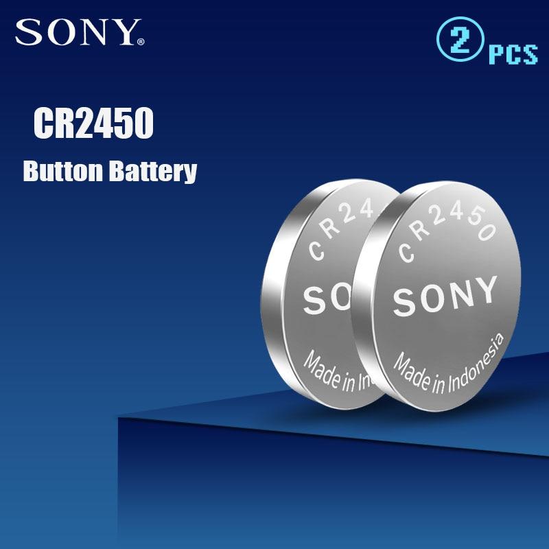2 шт. 100% оригинальный Sony CR2450 CR 2450 3 в 550 мАч литиевые батареи для часы swatch автомобильные ключи часы Шагомер Кнопка монетница