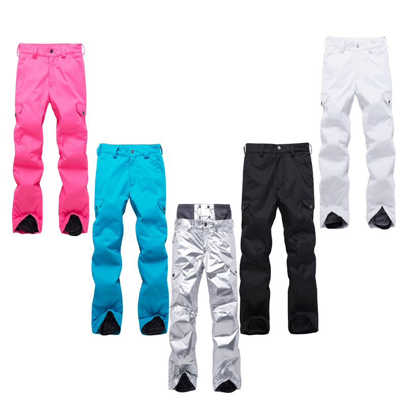 Good shiny lady snow pants especially snowboard pants outdoor sports wear ski pants 10K waterproof breeze-tight breathable