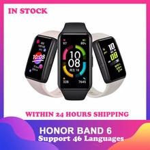 Honra original relógio inteligente 6 pulseira banda monitor de freqüência cardíaca oxigênio freqüência cardíaca pulseira inteligente 1.47