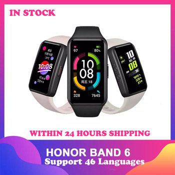 Original Honor Smart Watch 6 Bracelet Band Heart Rate Monitor Oxygen Monitor Heart Rate Smart Wristband 1.47 AMOLED TouchScreen honor band 6 smart wristband 1 47 inch amoled touch screen professional sports fitness tracker heart rate blood oxygen monitor long standby smart watch