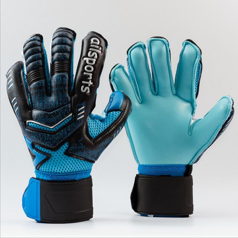 4MM Latex Goalkeeper Gloves Finger Protection Thickened Soccer Goalie Gloves Professional Football Goalkeeper Gloves 10