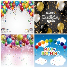 Balloon Birthday Backdrops For Photography Colorful Family Party Decor Baby Portrait Poster Photography Backgrounds Photo Studio