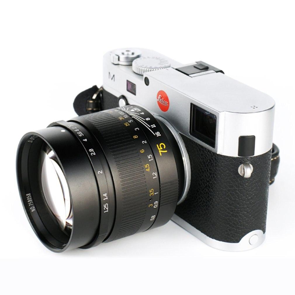 Objectif de mise au point manuelle 75mm F1.25 pour caméras Leica m-mount Leica M2 M3 accessoires pour caméras mise au point manuelle