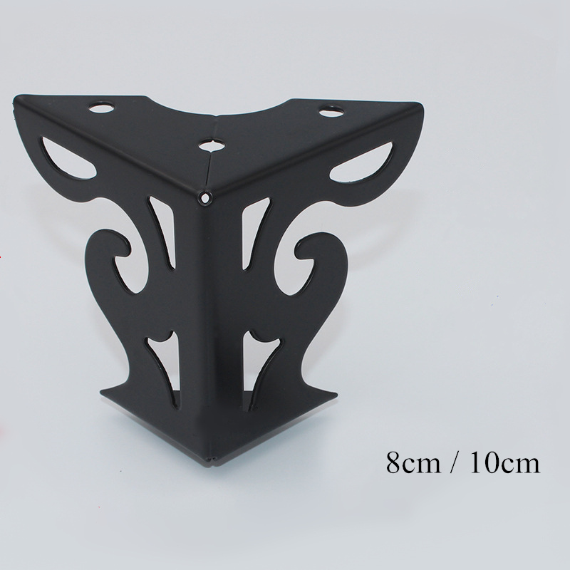 4pcs Hardware Metal Furniture Legs Hollow Sofa Foot Pattern Black For TV Cabinet Legs Support Furniture Corner Protectors Metal