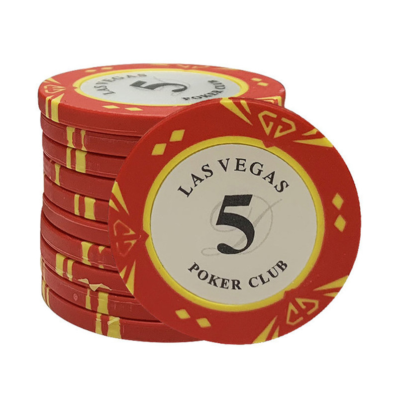 Clay Las Vegas Poker Chips 14g Set Clay Casino Coins 40mm Coin Poker Chips Entertainment Dollar Coins Card Game 5pcs/pack
