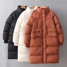 Парка Femme Hiver Parkas Новая зимняя женская теплая длинная хлопковая стеганая модная верхняя одежда больших размеров пальто осенняя куртка