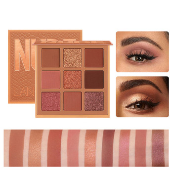 Mode eyeshadow palette 9 Kleuren Matte Oogschaduw palette Glitter oogschaduw Make-Up Naakt Make set Korea Cosmetica 1
