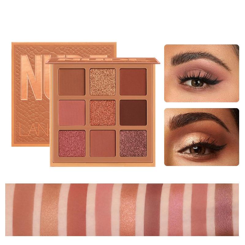 Модная палитра теней для век, 9 цветов, матовая палитра солнечных теней, блестящий набор для макияжа, Корея, косметика