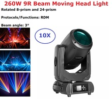 10Pcs Lights + Flight Case 260W 9R Moving Head Light Beam Spot Light DMX512 Moving Head Dj Bar Party Lightshow Stage Lighting
