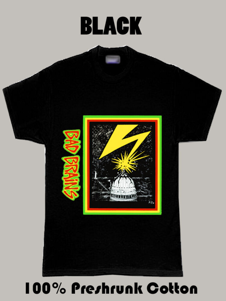 Bad Brains Punk Album Cover T Shirt 100% Cotton Brand New T-Shirts top tee image