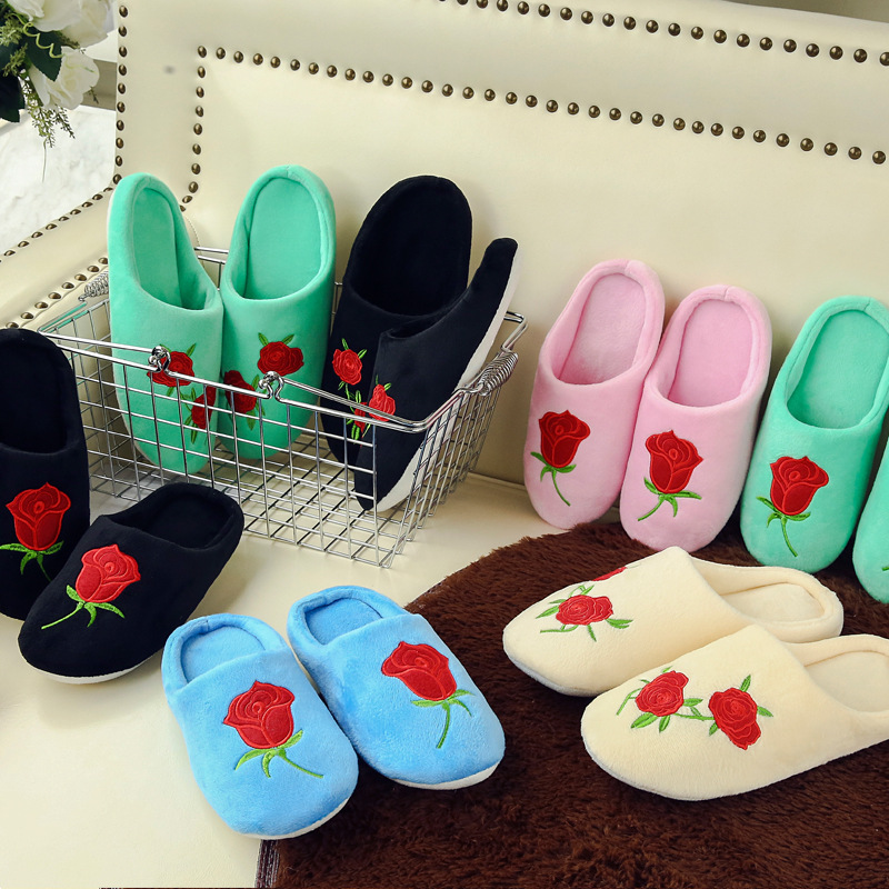 Women-Indoor-Slippers-Rose-Embroider-Short-Plush-Spring-Autumn-Flat-Shoes-Woman-Home-Slides-Soft-Sole (1)