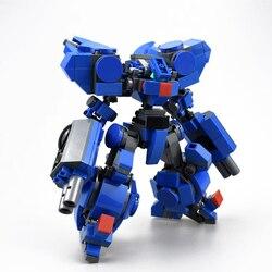 384 pçs design original mech guerreiro blocos de construção brinquedos para crianças robôs armadura anime figura modelo 14cm figura ação bonecas