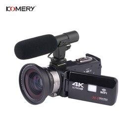 KOMERY 4K Video Kamera Unterstützung WIFI Und NightShot Funktion Kamera Zeit-lapse Video 3,0 Inch HD Touch Screen kamera