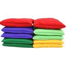 2 pçs sacos de feijão náilon diversão esportes ao ar livre família jogos saco feijão toss brinquedo carnaval f3me