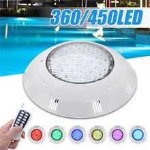 Luces LED subacuáticas para piscina, 35W, 45W, cambio de Color RGB, CA de 12V, IP68, lámpara impermeable con mando a distancia