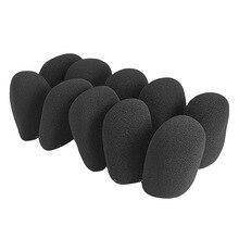 10 Pcs/Set Microphone Grill Foam Cover Audio Mic Shield Sponge Cap Holder OUJ99