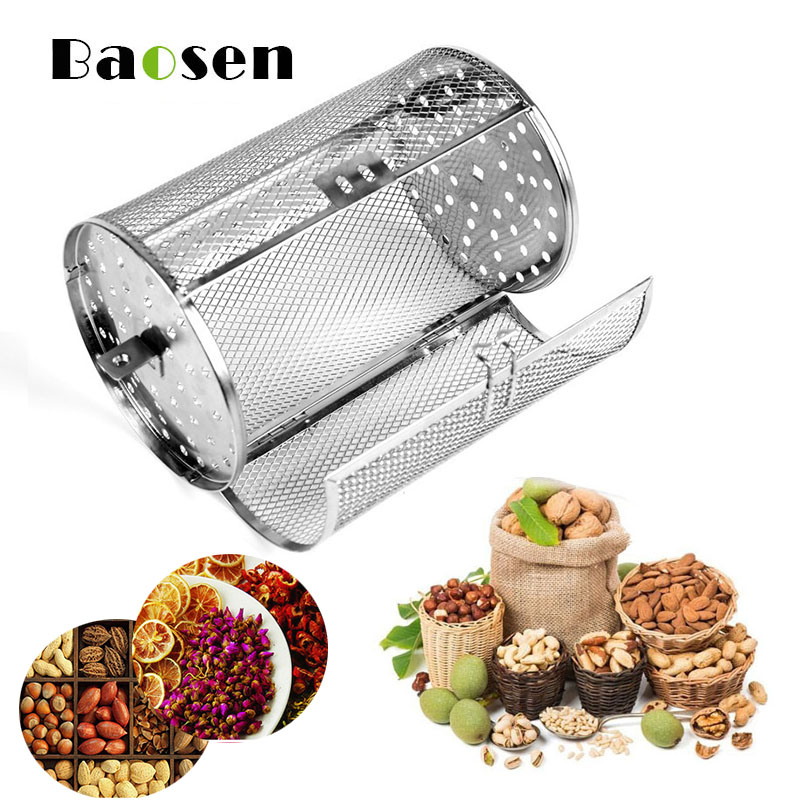 8 inches Stainless Steel Rotating Grilled Cage Rotary for Electric Oven Barbecue Roasted Coffee Bean Nut Walnut Roaster Cage(China)
