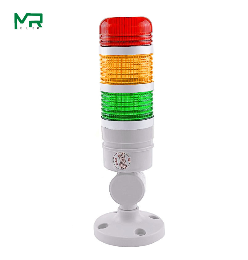 3 Layer Tricolor  Lathe Emergency Warning Light DC12V/24V Led Tower Light With Buzzer  CNC Machine Tool Warning Light Red Yellow