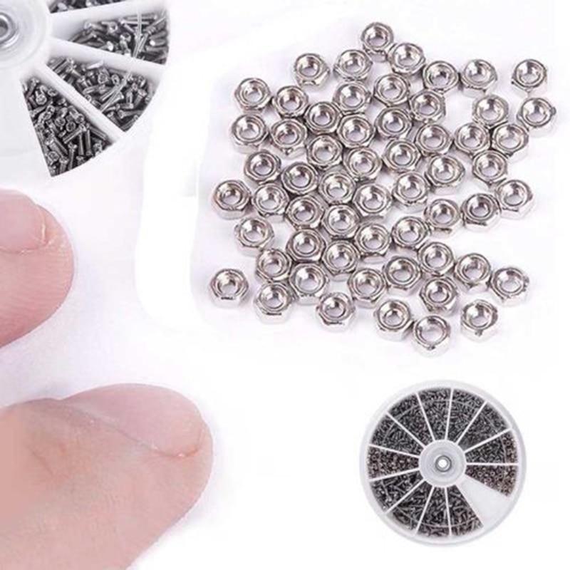 600 X Small 12 Kinds Of Screw Nuts Electronics Assortment Kit M1 M1.2 M1.4 M1.6